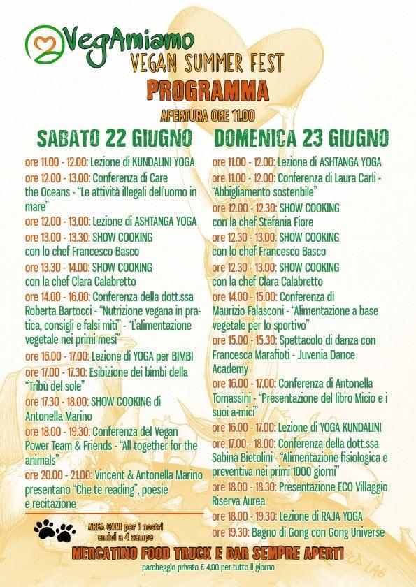 Locandina Vegamiano Vegan Summer Fest Roma 2019